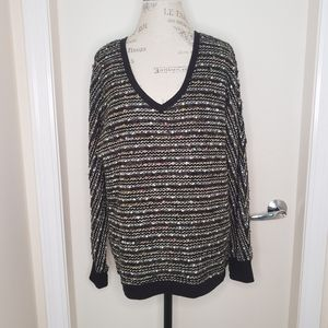 Sanctuary Nordstrom vneck shabby chic knit sweater